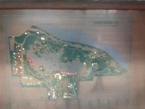 Map of Shukkei-en