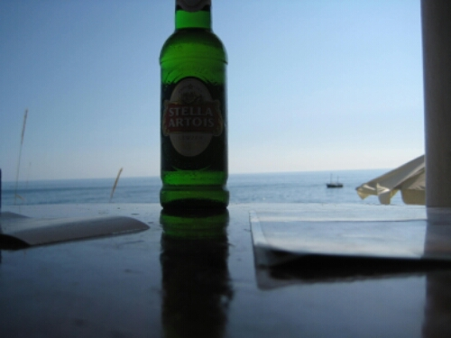 A beer in the city of Dubrovnik