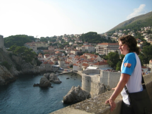 Enjoying the view from the Walls of Dubrovnik
