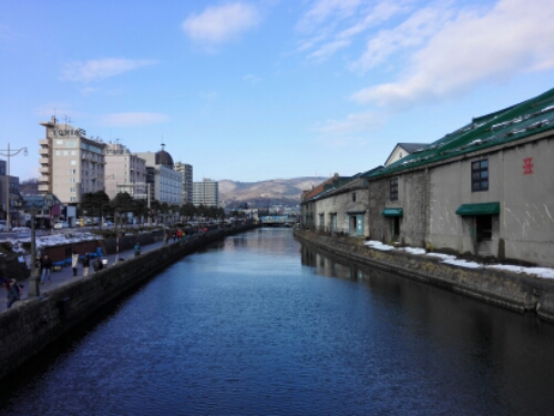 View of the canal in Otaru