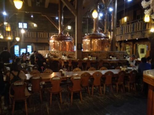 The vats inside Otaru Beer Brewery Pub