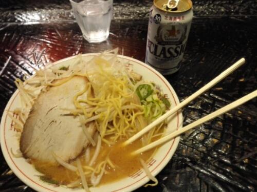 Another miso ramen in Ramen Street in Sapporo