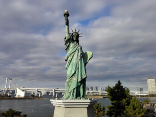 The Statue of Liberty in Odaiba