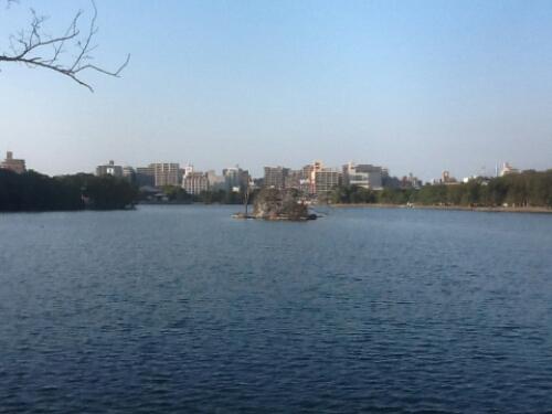 The lake in Ohori Park