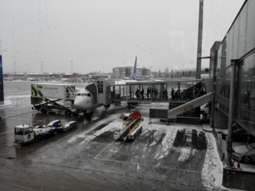 Gardermoen Airport and SAS Lounge