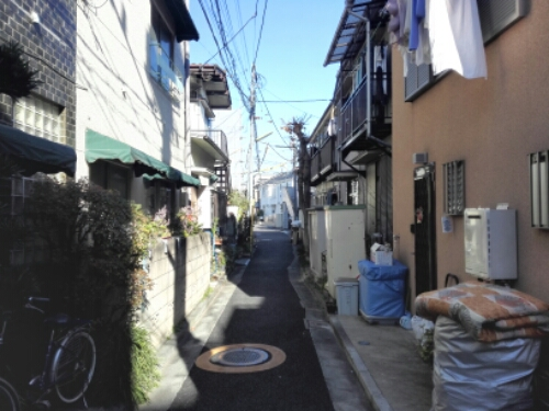 Narrow streets in Shimokitazawa