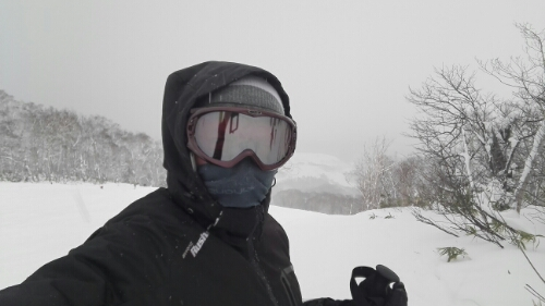 Skiing in Niseko because of Fuji Rock Festival