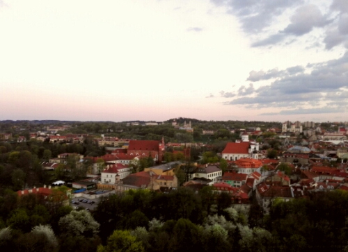 View of Vilnius from Gediminas' Castle