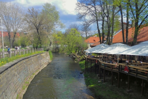 The river Vilnia and Uzupis