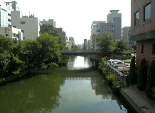 A canal in Nagoya, Japan