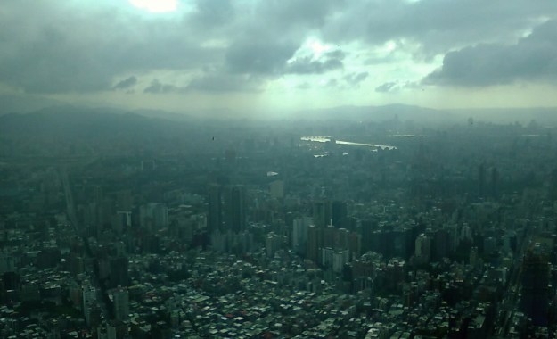 Taipei seen from the top of Taipei 101