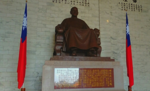 A statue of Chiang Kai-shek at Chiang Kai-shek Memorial Hall
