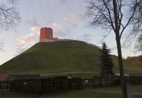 View of the castle in Vilnius