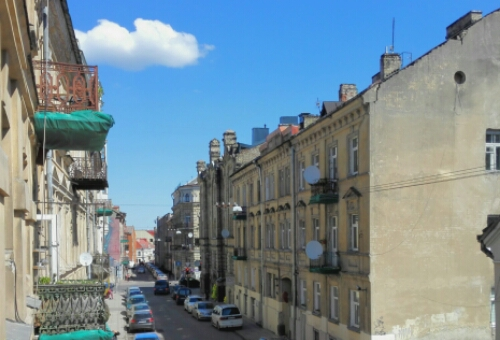 View of Vilnius from my balcony