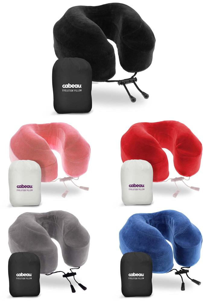 cabeau evolution memory foam travel pillow with ear plugs 4 - Cabeau Evolution Pillow