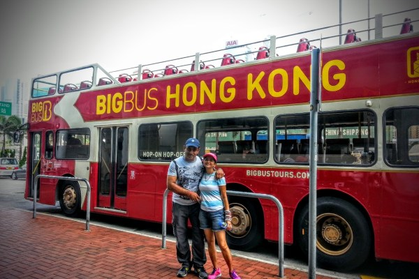 Desh and I in front of the Big Bus.