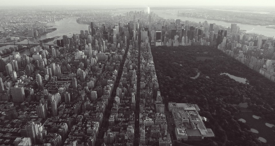 Aerial view of nyc courtesy flickr by daniel piraino