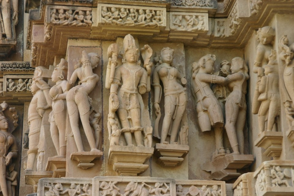 Khajuraho Sculptures - ornate and intricate