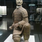 This soldier symbolizes an archer of the king's army.