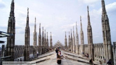 On the top of the Cathedral in Milan.