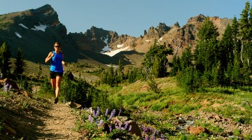 Trail running near Broken Top in Bend, Oregon. Photo Credit: Pete Alport, Visit Bend