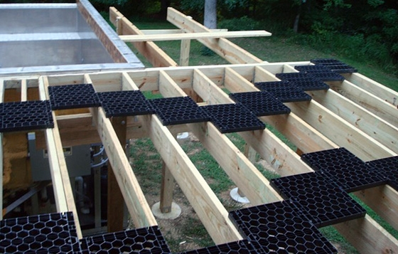 How To Install A Patio With Pavers The best way to install Travertine Pavers on a raised deck