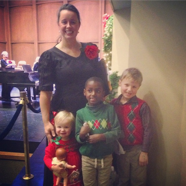 Amanda's 3 adoring fans at the Greenwood Festival Chorale concert last night.