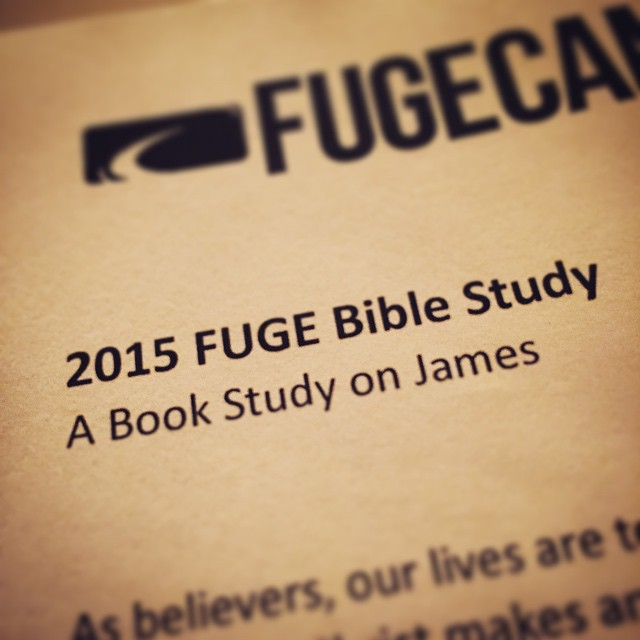 How convenient! Studying through James at church and going through it at Fuge.