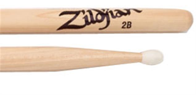 Zildjian 2bnn Hickory Nylon Tip Drumsticks Trax Music Store