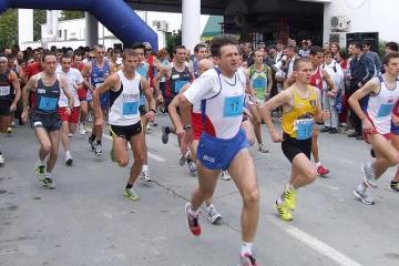 Sa starta Dunavskog polumaratona 2009. godine. Foto: Somaraton.org.rs