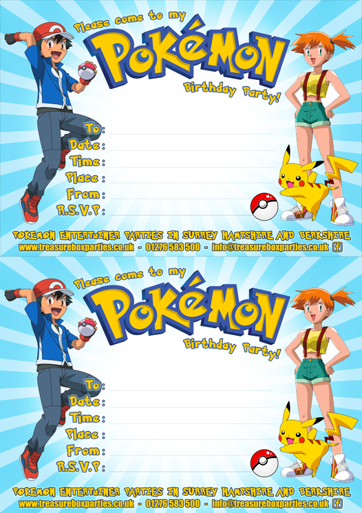 Free Pokemon Party Downloads \u2013 Printable Party Invitations