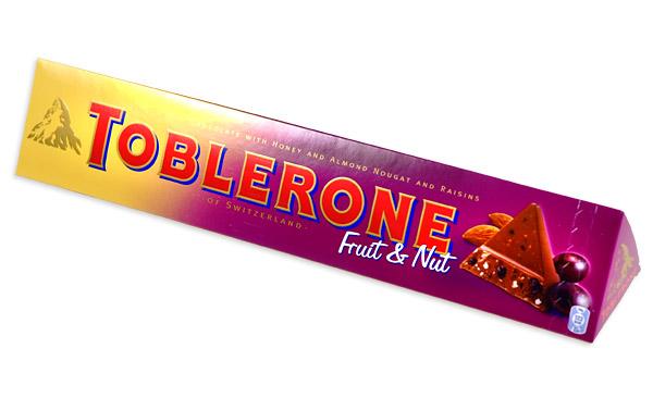 Toblerone Fruit And Nut Swiss Milk Chocolate