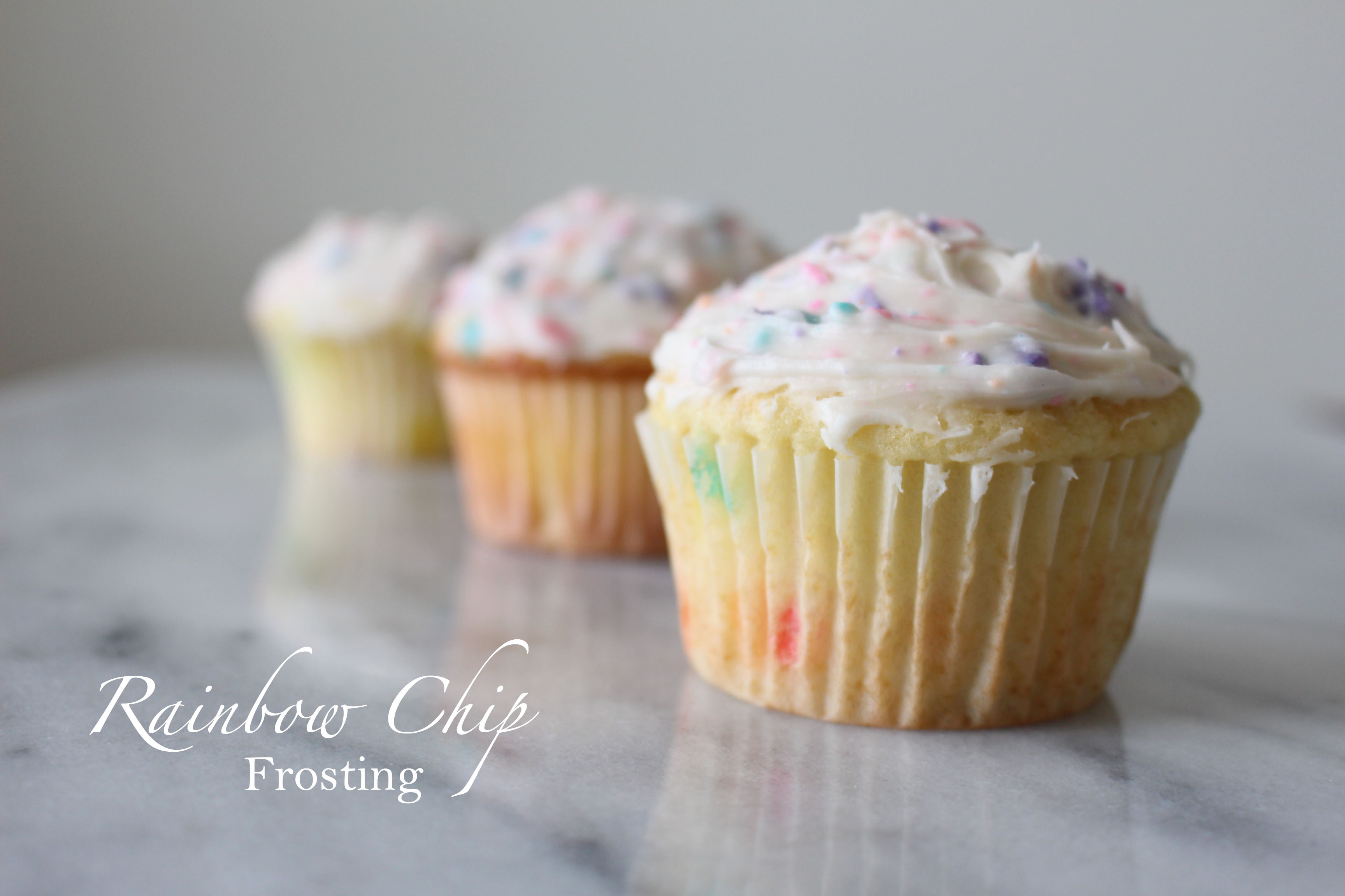 homemade rainbow chip cake and frosting grad s favorite and it s ...