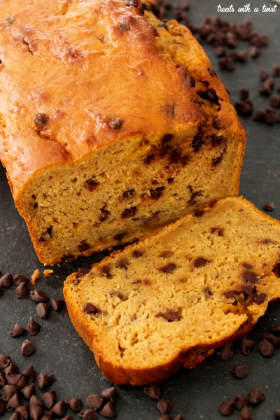 Bourbon-Spiked Chocolate Chip Pumpkin Banana Bread