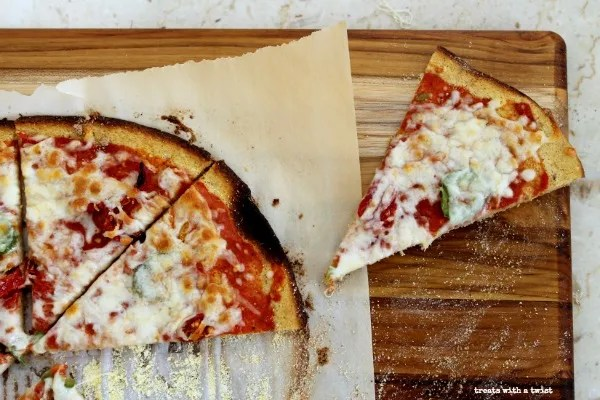 Plantain Crust Pizza (treatswithatwist.com) #glutenfree