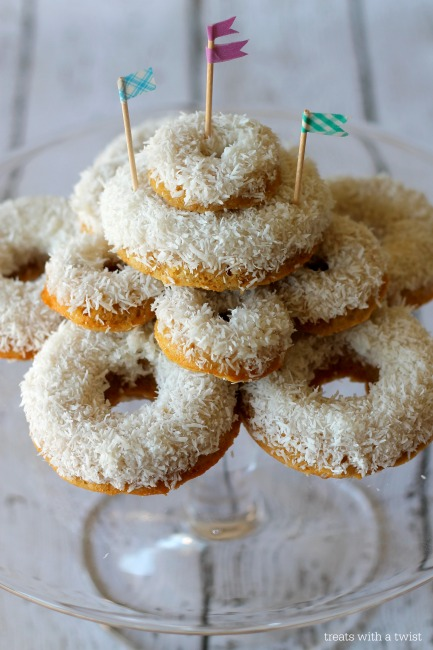 Baked Coconut Donuts (treatswithatwist.com)