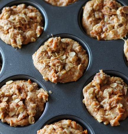 Carrot Almond Muffins - favorite fall and September recipes (treatswithatwist.com) #glutenfree