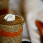 Pumpkin Spiced Chia Pudding (treatswithatwist.com) #glutenfree #autumn #fall #vegan