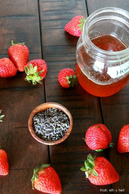 Strawberry Honey Lavender Popsicles 2