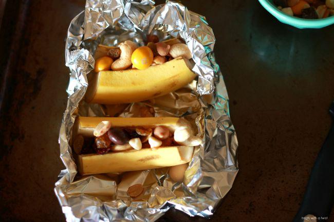 Roasted Trail Mix Bananas 2