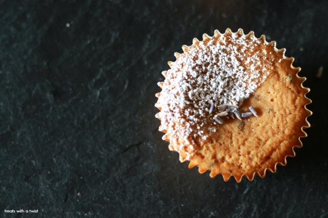 Lavender Lemon Cupcakes // gluten free, dairy free, treatswithatwist.com