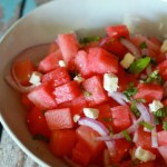 Watermelon Feta Salad // treatswithatwist.com