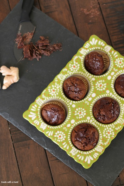 Banana Chocolate Chunk Gingerbread Muffins // gluten free // treatswithatwist.com