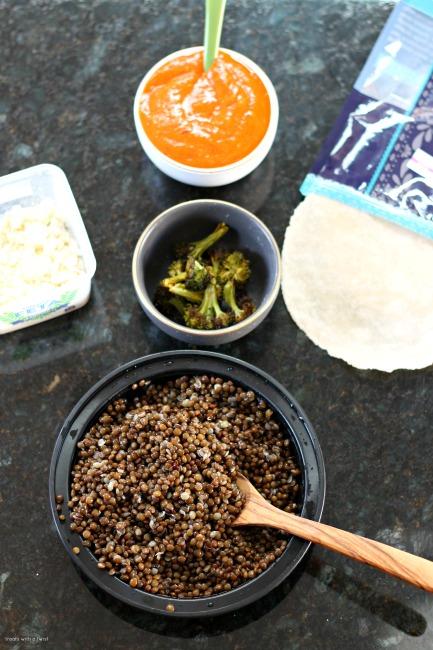 Curry Roasted Vegetarian Enchiladas with Harissa Enchilada Sauce // gluten free, treatswithatwist.com