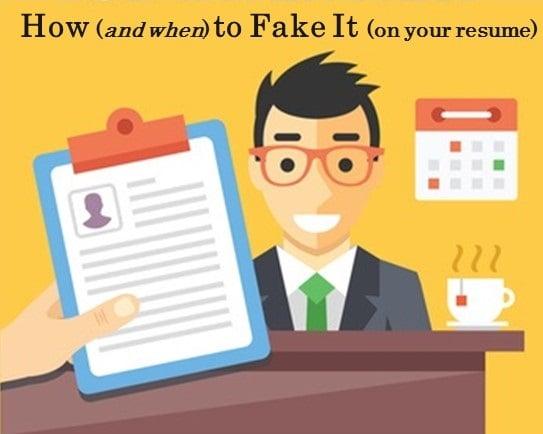 How to Fake It on Your Resume Treeline Sales Blog - fake resumes