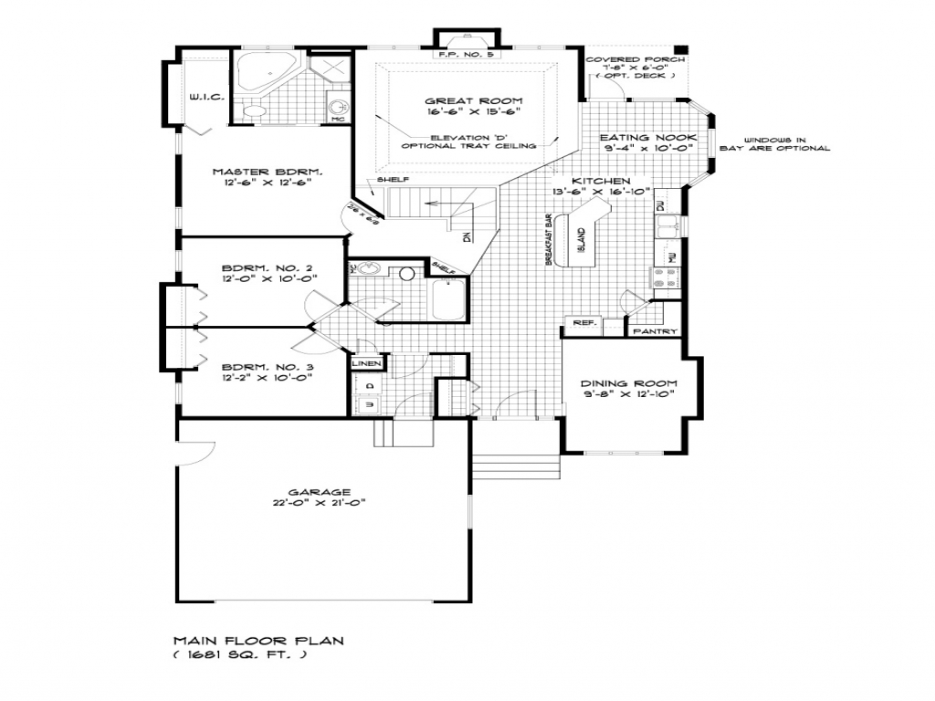 Bungalow House Plans With Porches Bungalow House Floor