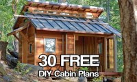 Small Cabin Building Plans Free DIY Cabin Plans, diy cabin ...