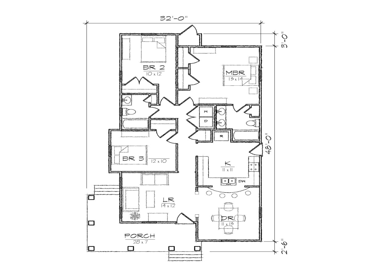 Bungalow House Floor Plans Two Story House Floor Plans