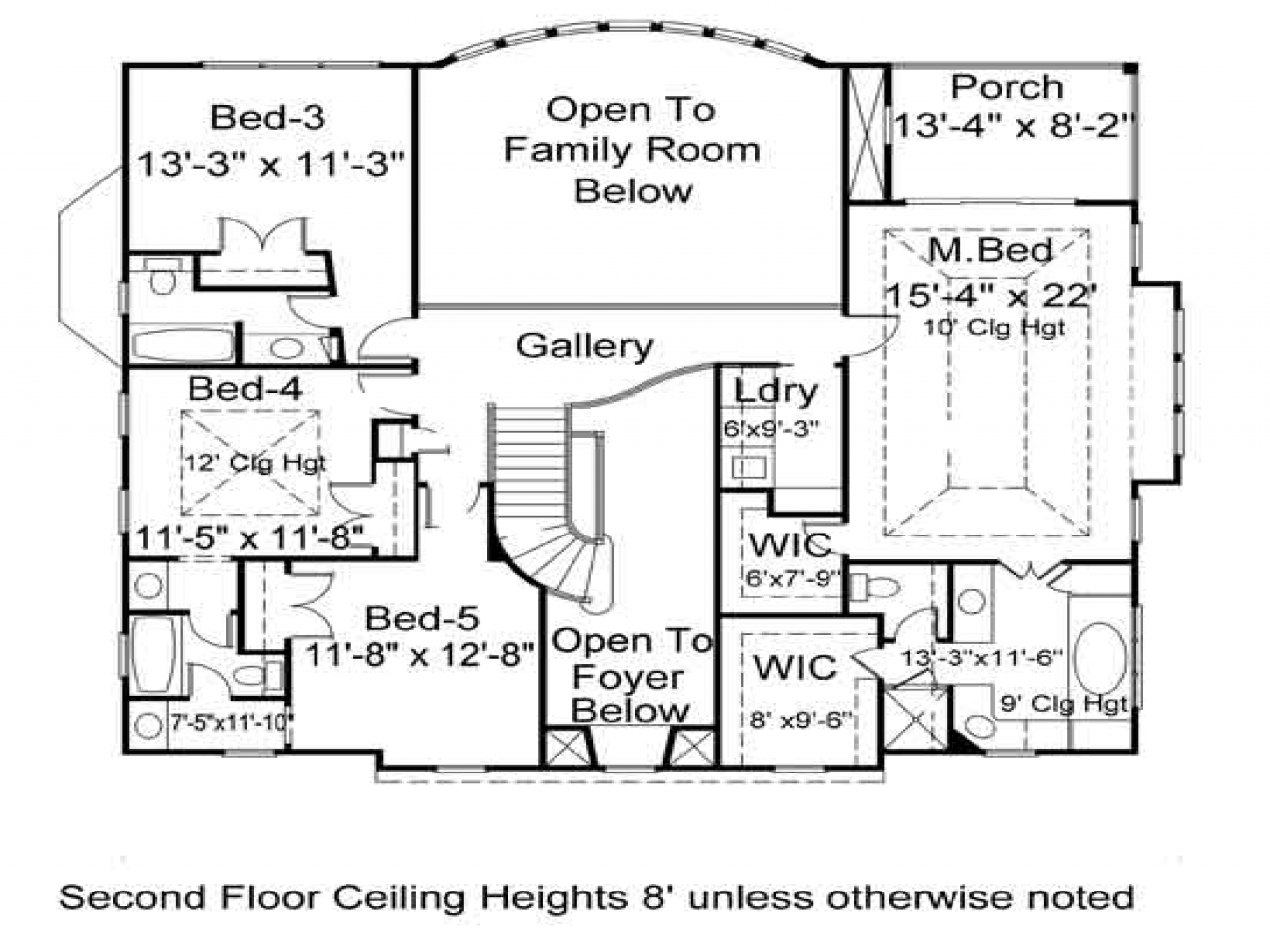 Villa House Floor Plans 3 Bedroom House Plans Spanish