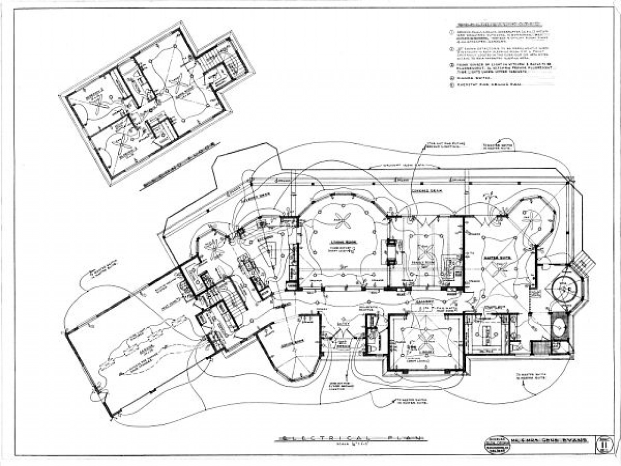electrical floor plan sample